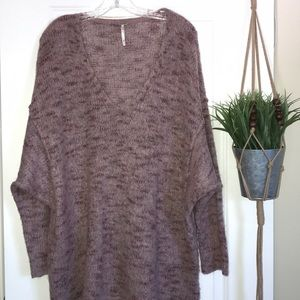 Free People v neck long sleeve knit sweater